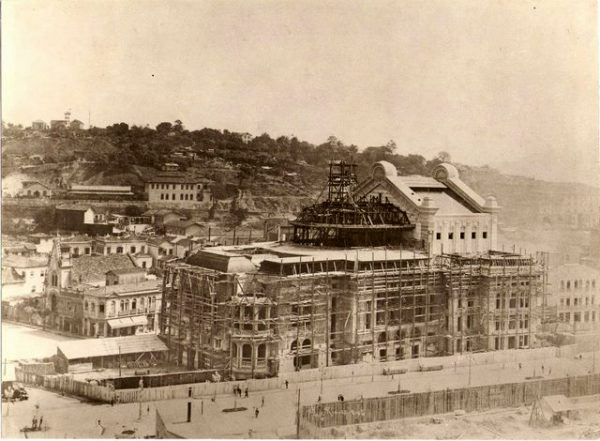 Theatro Municipal do Rio de Janeiro em obras