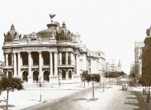 Theatro Municipal do Rio de Janeiro - Foto do início do século XX