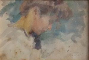 LOUISE - AQUARELA - 12 x 18 cm - c.1898 - COLEÇÃO PARTICULAR