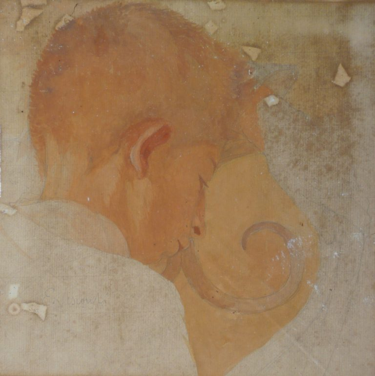 MENINO - GUACHE E TÊMPERA SOBRE PAPEL - 30 x 30 cm - c.1912 - COLEÇÃO PARTICULAR