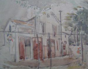 A CASA DE LOUISE EM SAINT HUBERT - AQUARELA - 22,5 x 29,0 cm - 1913 - COLEÇÃO PARTICULAR