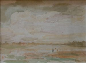 ARREDORES DE SAINT HUBERT - AQUARELA - 20 x 28 cm - c.1914 - COLEÇÃO PARTICULAR