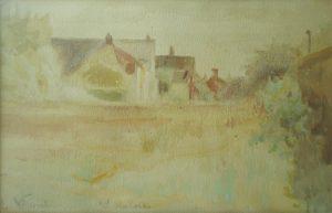 PAISAGEM DE SAINT HUBERT - AQUARELA - 15,5 x 24,0 cm - c 1915 - COLEÇÃO PARTICULAR