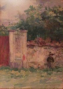 TOBIAS EM SAINT HUBERT - AQUARELA - 25,0 x 16,5 cm - c.1918 - COLEÇÃO PARTICULAR