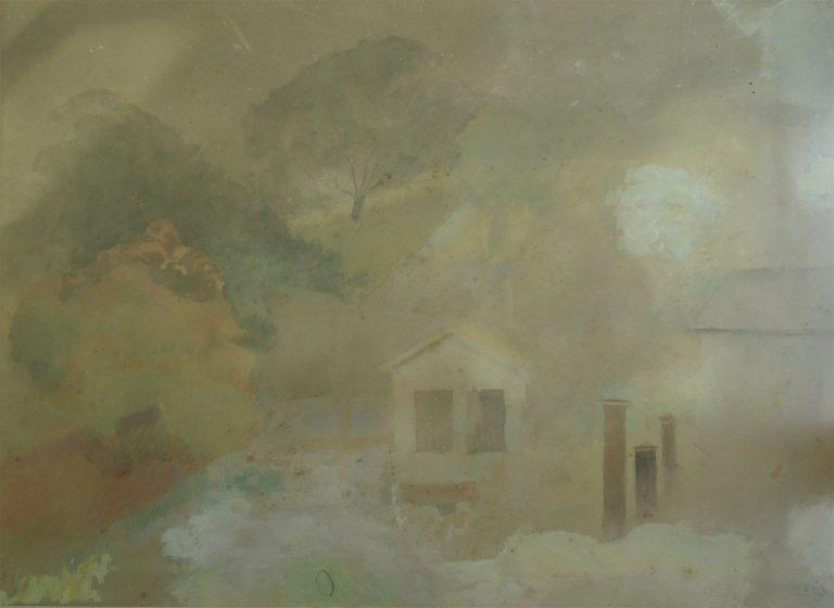PAISAGEM - AQUARELA - 42,5 x 58,0 cm - c.1904 - COLEÇÃO PARTICULAR
