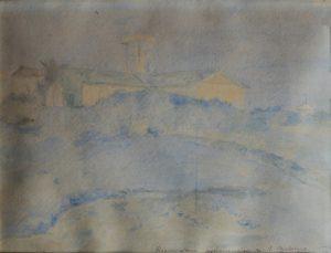 RESERVATÓRIO ASTRONÔMICO DE STO. ANTONIO - ANTIGO OBSERVATÓRIO NACIONAL - AQUARELA - 20,0 x 24,0 cm - c.1903 - COLEÇÃO PARTICULAR