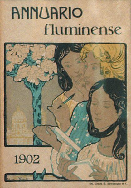 CAPA DO ANNUARIO FLUMINENSE - ZINCOGRAFIA - 19 x 14 cm - 1902 - COLEÇÃO PARTICULAR