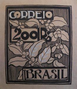 ESTUDO DE SELO PARA OS CORREIOS - PROJETO NÃO UTILIZADO - NANQUIM E GUACHE S/ PAPEL - 36,5x32,5 cm-c.1903-COLEÇÃO PARTICULAR