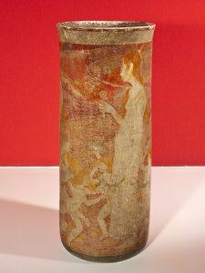 VASO O AMOR - CERÂMICA PINTADA - h.51cm d.21,5 cm - c.1900 - COLEÇÃO PARTICULAR