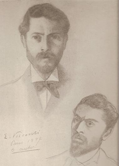 AUTORRETRATO - LÁPIS - 1897 - LOCALIZAÇÃO DESCONHECIDA