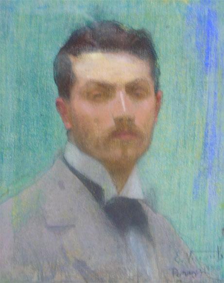 AUTORRETRATO - PASTEL SOBRE TELA - 46 x 36 cm - 1896 - MUSEU NACIONAL DE BELAS ARTES - MNBA - RIO DE JANEIRO/RJ