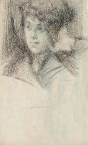 TOBIAS MENINO - CRAYON/PAPEL - 43 x 26 cm - c.1920 - COLEÇÃO PARTICULAR