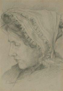 LOUISE - CRAYON/PAPEL - 23 x 16 cm - c.1900 - COLEÇÃO PARTICULAR