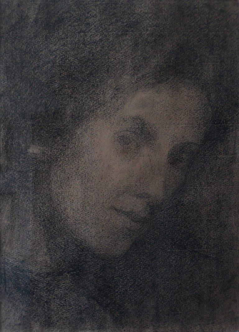 LOUISE - CRAYON S/ PAPEL - 29,0 x 21,5 cm - c.1908 - COLEÇÃO PARTICULAR