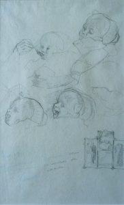 TOBIAS AOS DEZ MESES - CRAYON/PAPEL - 29,0 x 17,5 cm - 1911 - COLEÇÃO PARTICULAR