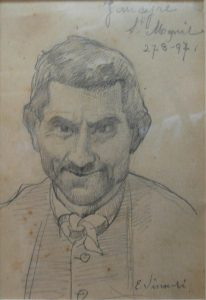 RETRATO DE JANCYRE - CRAYON/PAPEL - 7,5 x 11,5 cm - 1897 - COLEÇÃO PARTICULAR
