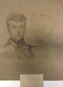 D. PEDRO II AOS 19 ANOS - CARVÃO/PAPEL - 31,5 x 23,5 cm - c.1898 - MUSEU DOM JOÃO VI - ESCOLA DE BELAS ARTES-UFRJ