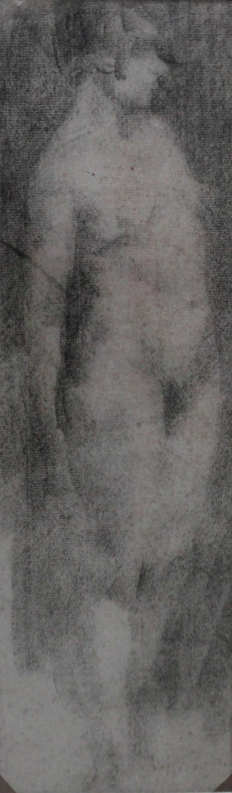 NU FEMININO DE PÉ - CRAYON/PAPEL - 43 x 12 cm - c.1897 - COLEÇÃO PARTICULAR