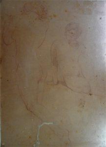 NUS FEMININOS - CRAYON/PAPEL - 31 x 22 cm - c.1895 - COLEÇÃO PARTICULAR