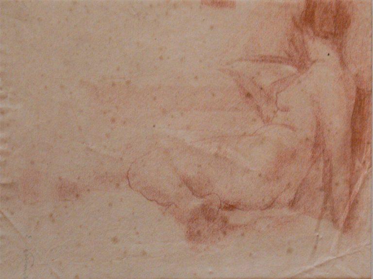 NU FEMININO RECOSTADO - SANGUÍNEA - 26 x 38 cm - c.1897 - COLEÇÃO PARTICULAR