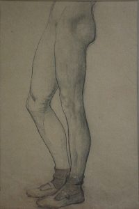 PERNAS - CRAYON S/ PAPEL - 29 x 19 cm - c.1914 - COLEÇÃO PARTICULAR