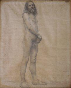 NU MASCULINO DE PÉ - CRAYON/PAPEL - 61,5 x 47,0 cm - 1897 - COLEÇÃO PARTICULAR