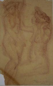 NUS FEMININOS - SANGUÍNEA - 41 x 25 cm - 1920 - MUSEU ANTONIO PARREIRAS-NITEROI-RJ