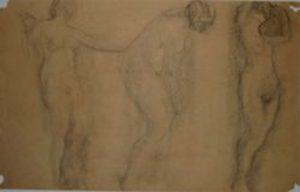 NUS FEMININOS - CRAYON/PAPEL - 26 x 41 cm - 1918 - MUSEU ANTONIO PARREIRAS/NITEROI/RJ