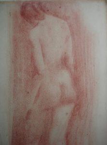 NU FEMININO - SANGUÍNEA - c.1897 - COLEÇÃO PARTICULAR