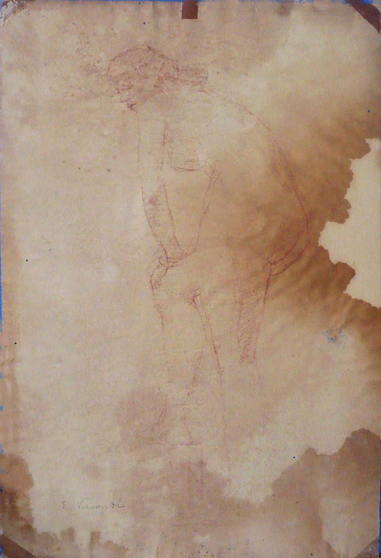NU FEMININO - CRAYON SOBRE PAPEL - 47 x 31 cm - c.1895 - COLEÇÃO PARTICULAR