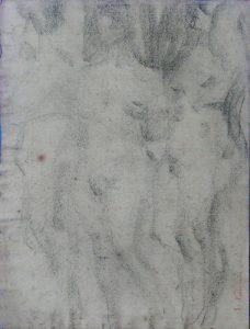 NUS FEMININOS - CARVÃO SOBRE PAPEL - 32 x 24 cm - c.1896 - COLEÇÃO PARTICULAR