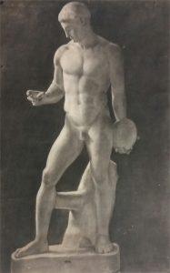 DISCÓBOLO - CARVÃO SOBRE PAPEL - 101,4 x 67,0 cm - 1886 - MUSEU NACIONAL DE BELAS ARTES - MNBA - RIO DE JANEIRO/RJ