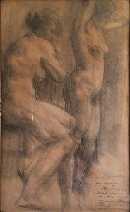 NUS FEMININOS - CRAYON SOBRE PAPEL - 40,5 x 24,0 cm - c.1900 - COLEÇÃO PARTICULAR