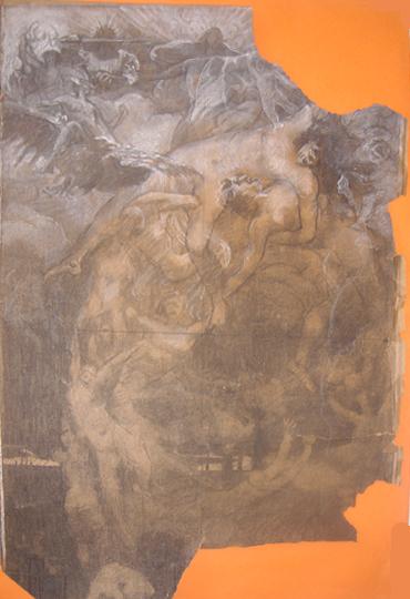 O PROGRESSO - ESTUDO PARA O PAINEL DA BIBLIOTECA NACIONAL - PASTEL/PAPEL - 62 x 43 cm - c.1910 - COLEÇÃO PARTICULAR