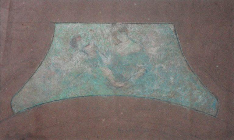 FIGURAS - ESTUDO PARA O THEATRO MUNICIPAL DO RIO DE JANEIRO - PASTEL - 24 x 40 cm - c.1905 - COLEÇÃO PARTICULAR