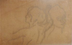 CABEÇAS - ESTUDO PARA A DECORAÇÃO DO THEATRO MUNICIPAL - CRAYON SOBRE PAPEL VEGETAL - 48 x 30 cm - c.1905 - COLEÇÃO PARTICULAR
