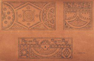 COMPOSIÇÃO GEOMÉTRICA - ESTUDO PARA BAÚ - NANQUIM/PAPEL - 50 x 70 cm - c.1900 - CENTRO DE DOCUMENTAÇÃO DA FUNDAÇÃO TEATRO MUNICIPAL DO RIO DE JANEIRO/RJ