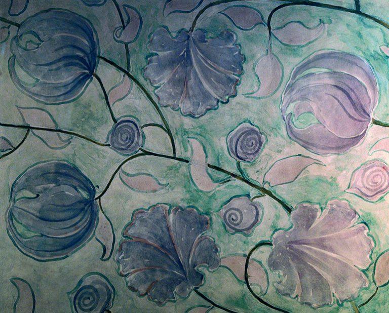 FLORES - ESTUDO PARA TECIDO - CRAYON SOBRE PAPEL - 40 x 50 cm - c.1899 - COLEÇÃO PARTICULAR