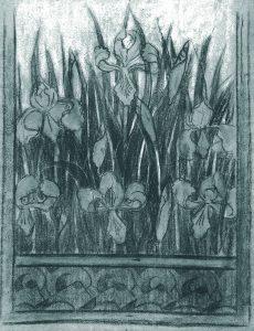 BAS DE PORTIÈRE - ESTUDO PARA TECIDO - CARVÃO E GIZ /PAPEL - 61 x 47 cm - c.1901 - COLEÇÃO PARTICULAR