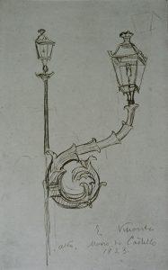 LAMPIÕES - CRAYON/PAPEL - 1923 - LOCALIZAÇÃO DESCONHECIDA