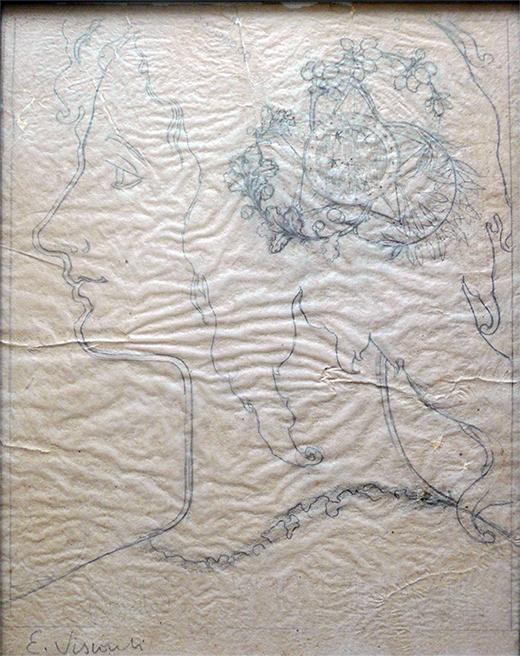 SELO OFICIAL A UNIÃO - ESTUDO PARA SELO INTEGRANTE DA COLEÇÃO VENCEDORA DO CONCURSO DOS CORREIOS DE 1904 - LÁPIS/PAPEL - 25,0 x 19,5 cm - c.1903 - COLEÇÃO PARTICULAR