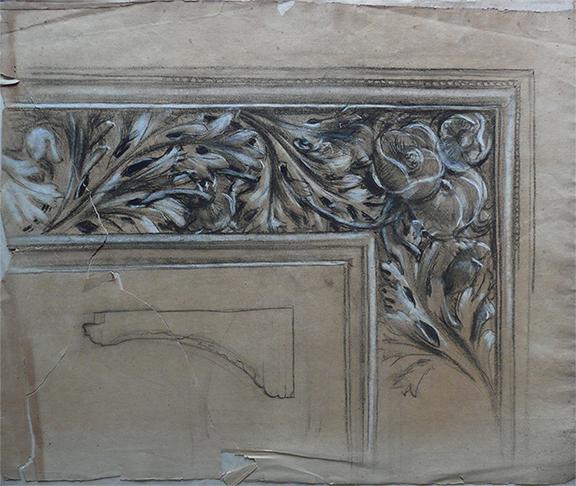 MOLDURA - CRAYON E GIZ SOBRE PAPEL - 47 x 61 cm - c.1906 - COLEÇÃO PARTICULAR