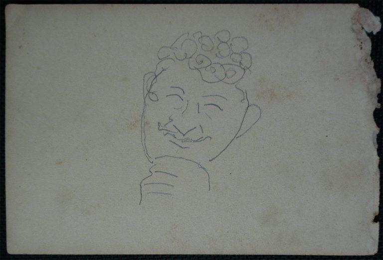 GAIATO A BORDO - CRAYON S/ PAPEL - 10,5 x 16,0 cm - c.1900 - DESMEMBRADO DE UM CADERNO DE NOTAS - COLEÇÃO PARTICULAR
