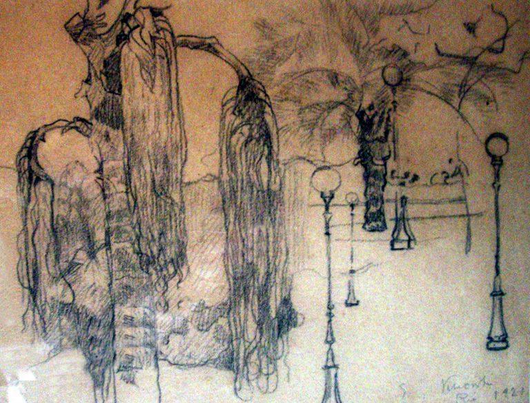 PALMEIRA CARYOTA - BICO DE PENA/PAPEL - 23 x 30 cm - 1927 - COLEÇÃO PARTICULAR