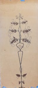 VEGETAL - CARVÃO E GIZ SOBRE PAPEL - 52 x 23 cm - c.1896 - COLEÇÃO PARTICULAR
