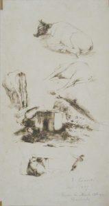 RUA DE MONTE ALEGRE - RIACHUELO - BICO DE PENA S/ PAPEL - 41 x 23 cm - 1889 - COLEÇÃO PARTICULAR
