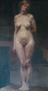 NU FEMININO - OST - 82 x 44 cm - c.1895 - COLEÇÃO PARTICULAR