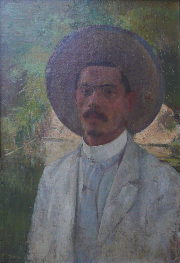AUTORRETRATO - OST - 50 x 34 cm - c.1890 - COLEÇÃO OSCAR CARIELLO - ITÁLIA