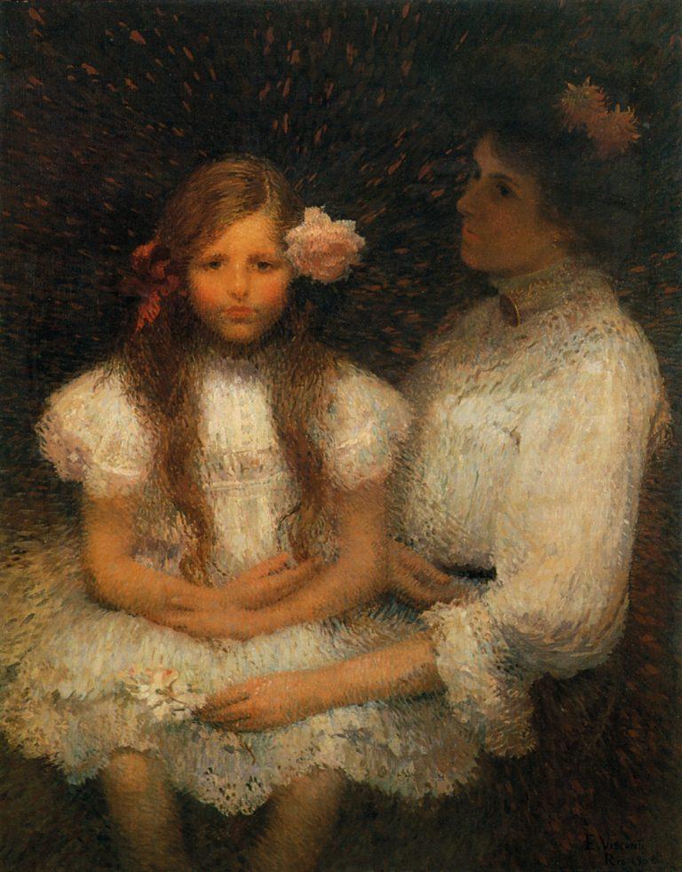 MINHA FAMÍLIA (A ROSA) - OST - 100 x 78 cm - 1909 - COLEÇÃO PARTICULAR