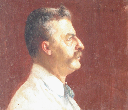RETRATO DE MEU IRMÃO AFONSO - OSM - 9 x 10 cm - c.1908 - COLEÇÃO PARTICULAR